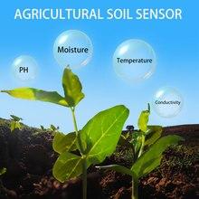 LoRa senza fili di umidità del terreno ph sensore 433/868/915mhz di umidità di temperatura ph conducibilità elettrica 4 in 1 sensore di data logger