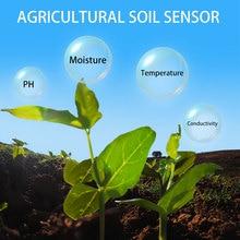 Sensor inalámbrico de ph por humedad del suelo LoRa, 433/868/915mhz, temperatura, humedad, ph, conductividad eléctrica, sensor 4 en 1, registrador de datos
