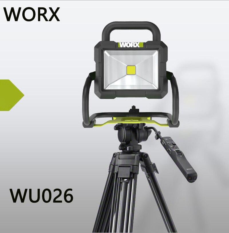Worx iluminador wu026 multifuncional casa ao ar livre portátil led luz