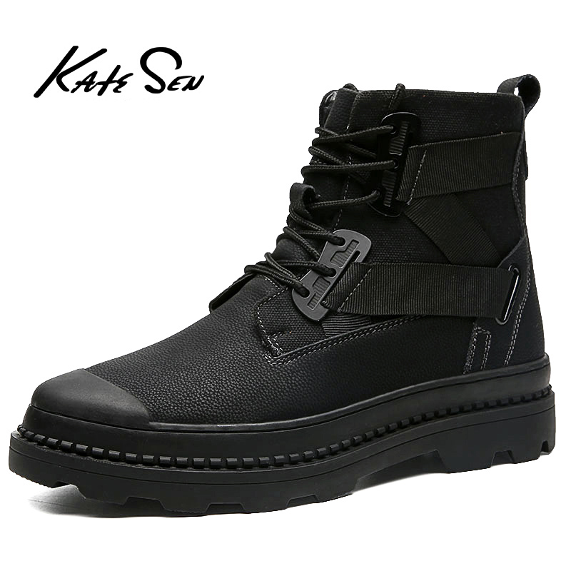 KATESEN  Men Fashion Ankle Boots Winter / Autumn Men's Motorcycle Outdoor Boots Men's Boots Snow Boots Oxfords Keep Warm Shoes