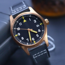 STEELDIVE 200M Waterproof Dive Men Watches Automatic Mechanical Sapphire Leather