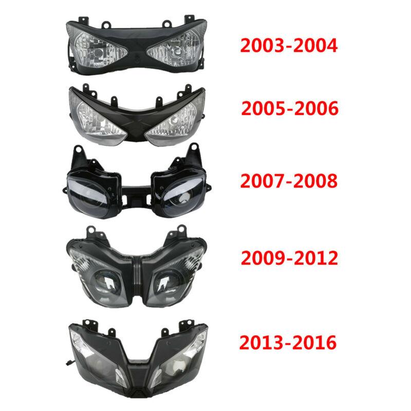 Motorcycle Front Headlight Headlamp light For Kawasaki Ninja ZX6R 2003 2004 2005 06 07 08 09 12 2013 2016|  - title=