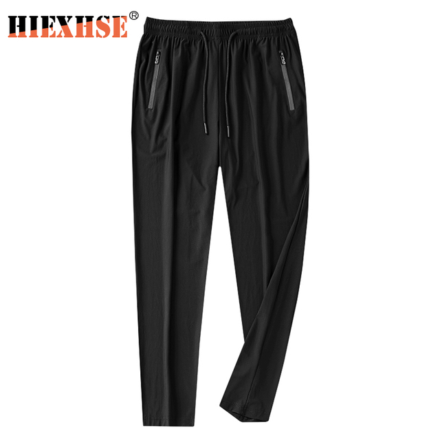 2020 Summer Men Pants Ice Cool Casual Breathable Lightweight Quick Dry Trousers Men's Long Pants Male Black Pants Pencil Pants