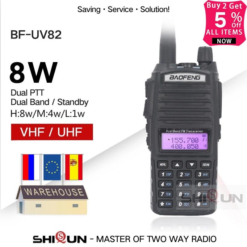 Upgrade BaoFeng UV-82 8W Baofeng UV 82 Walkie Talkie 10 KM Baofeng 8W Radio Dual PTT UV-XR UV-9R GT-3TP Ham Radio 10 KM UV-5R 8W