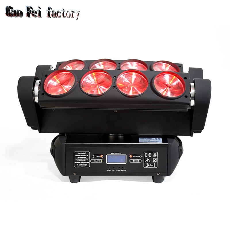 Spider Led 8x12W Moving Head Beam Light RGBW Color Mixing Strobe Light Dmx Stage Light Good For Nightclub Party Concert