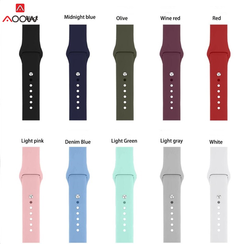 Silicone Straps For Samsung Galaxy Watch 42mm 46mm Sport Band For Huami Amazfit  SM-R810 SM-R800 18mm 20mm 22mm Rubber Belt