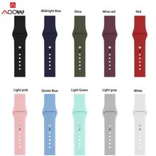 Silicone Straps for Samsung Galaxy Watch 42mm 46mm Sport Band for Huami Amazfit SM-R810 SM-R800 18mm 20mm 22mm Rubber belt(China)