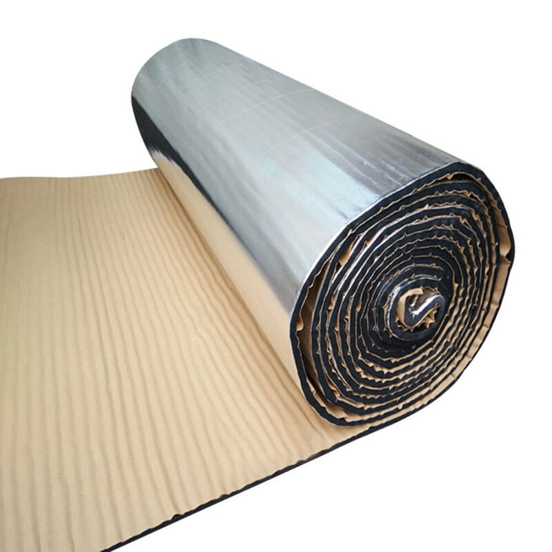 25x50cm Sound Deadener Car Heat Shield Insulation Noise Deadening Material Mat Rubber Foam & Aluminum Foil Soundproof Pad