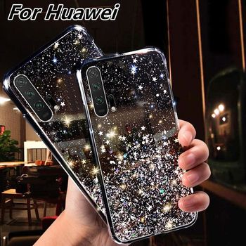 Soft Transparent TPU Phone Case For Huawei P30 P20 Lite Mate 30 20 10 Pro Honor 10i 20i 10 8C 8X 9X Pro P Smart 2019 Bling Cover image