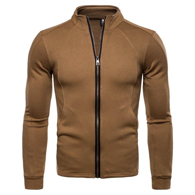 zogaa 2018 Spring Autumn Solid Plaid Jacket Men Zipper Cardigan Coat Men 39 s Cotton Bomber Jackets Fashion Casual Windbreaker in Jackets from Men 39 s Clothing