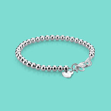 Minimalist 925 Sterling Silver Bracelet Women's Rose Gold Bead Bracelet Classic Student Charm Jewelry Solid Silver High Quality
