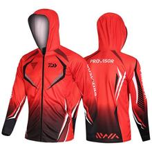 NEW 2020 Famous Brand Men Fishing Clothes Dawa New White Jersey Daiwa Sports Outdoor Mesh Breathable Hood Mens