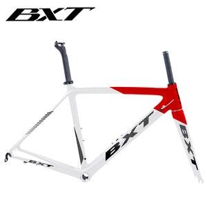 Image 1 - 2020 새로운 bxt t800 탄소 도로 자전거 프레임 사이클링 자전거 프레임 셋 슈퍼 라이트 980g di2/기계 레이싱 탄소 도로 프레임