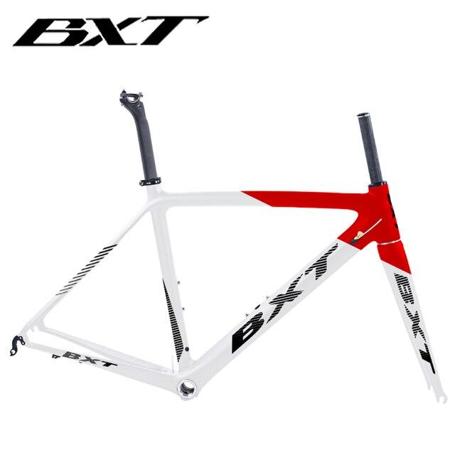 2020 새로운 bxt t800 탄소 도로 자전거 프레임 사이클링 자전거 프레임 셋 슈퍼 라이트 980g di2/기계 레이싱 탄소 도로 프레임