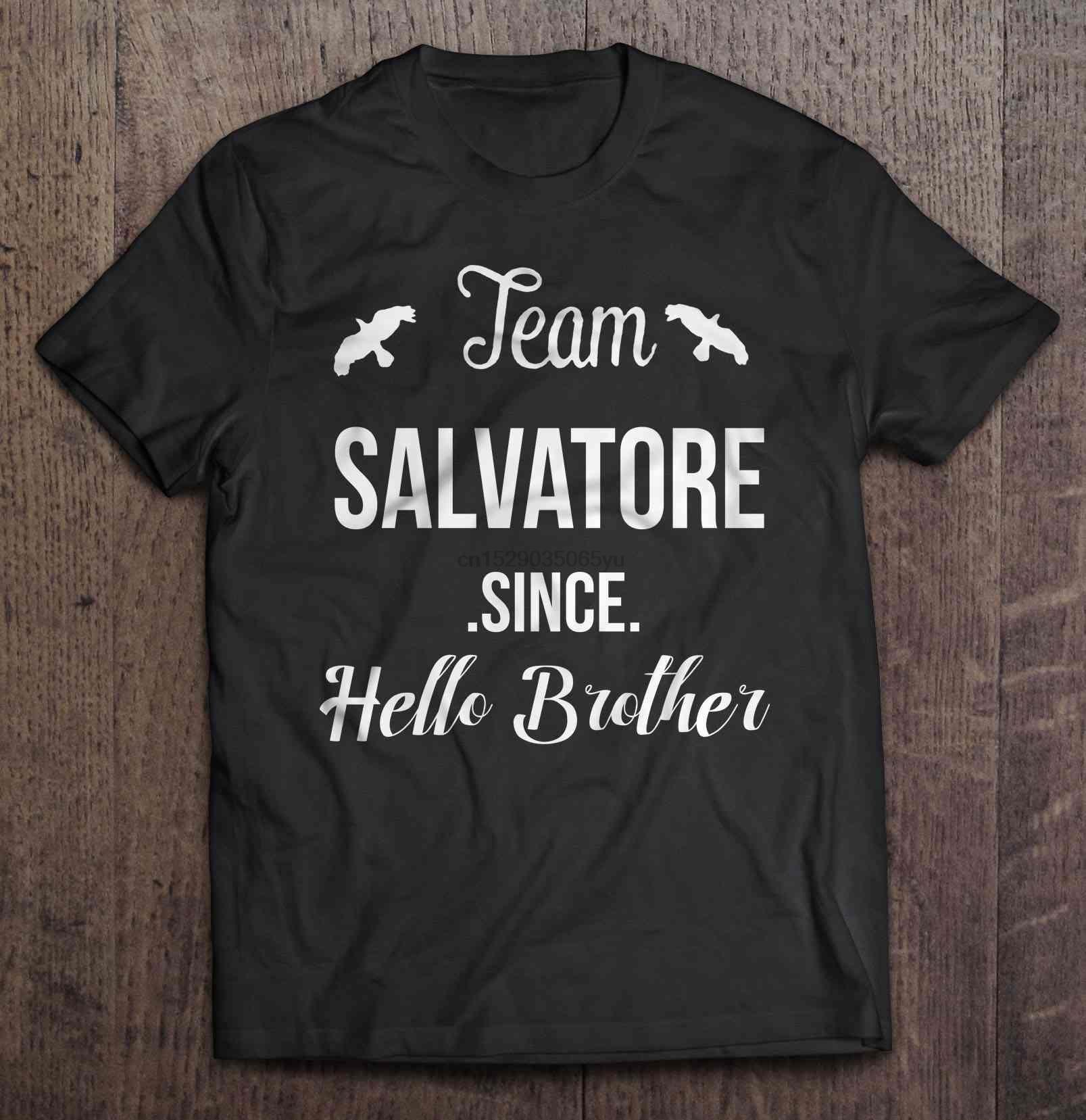 T-shirt homme équipe Salvatore depuis bonjour franger-damon Salvatore Version2 t-shirt femme