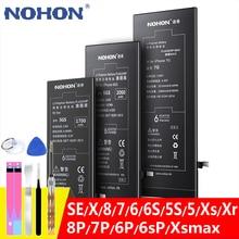 NOHON батарея для Apple iPhone SE 6S 6 7 8 Plus X 5S 5 5C Xr Xs MAX 6Plus 7Plus Замена оригинальной батареи для iPhone6 iPhone7 аккумулятор