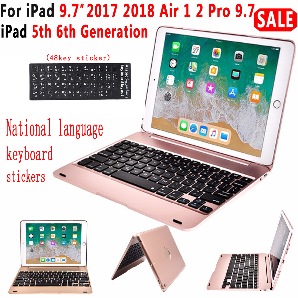 Für apple iPad air 1/<font><b>2</b></font> iPad Pro 9,7 faltbare Bluetooth wireless tastatur 78 schlüssel Für iPad air 2017/2018 drop schutz shell image