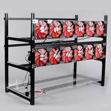 14 GPU Stackable Crypto Coin Aluminum Open Air Frame Mining Miner Rig Case V3 Mining Frame Metal Shell Case Box