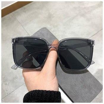 2021 Classic Vintage Square Sunglasses Women Oversized Sunglasses Women Men Retro Black Luxury Sun Glasses Goggle Oculos UV400