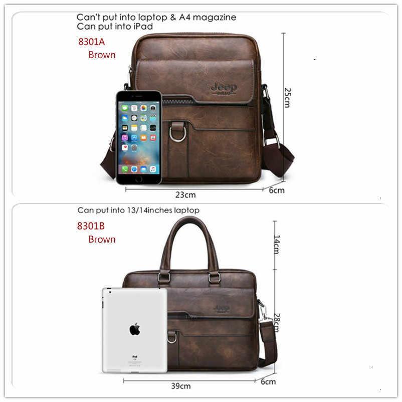 جديد الرجال حقيبة حقائب الأعمال الجلود حقائب كتف متنقلة رجل العمل حقيبة 14 بوصة حقيبة لابتوب Bolso Hombre Bolsa Masculina