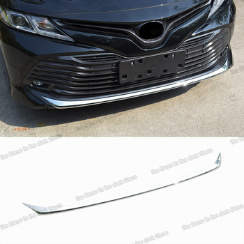 Lsrtw2017 for Toyota Camry XV70 Car Front Bumper Strip Trims Stainless Steel Accessories 2018 2019 2020