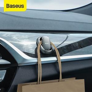 Baseus 2 шт. автомобиль крюк автомобильный Стикеры Держатель автоматический застежка-клипса для кабеля наушников ключ настенная вешалка