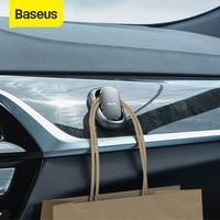 Baseus 2Pcs Car Hook Car Sticker Holder Auto Fastener Clip for Cable Headphone Key Wall Hanger