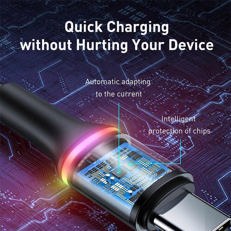 Baseus 5A USB tipi C kablosu için Huawei Mate 30 20 P30 P20 P10 Pro Lite 40W SCP hızlı şarj şarj USB-C C tipi kablo tel kordon
