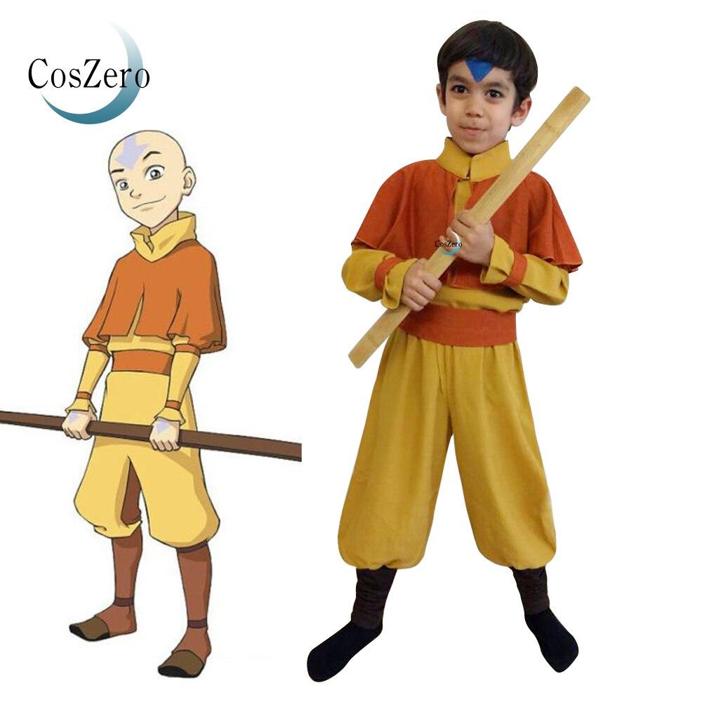 Kinder Anime Avatar Die Last Airbender-fall Avatar Katara Korra Aang Cosplay Kostüm Purim Outfits Halloween Karneval Anzug