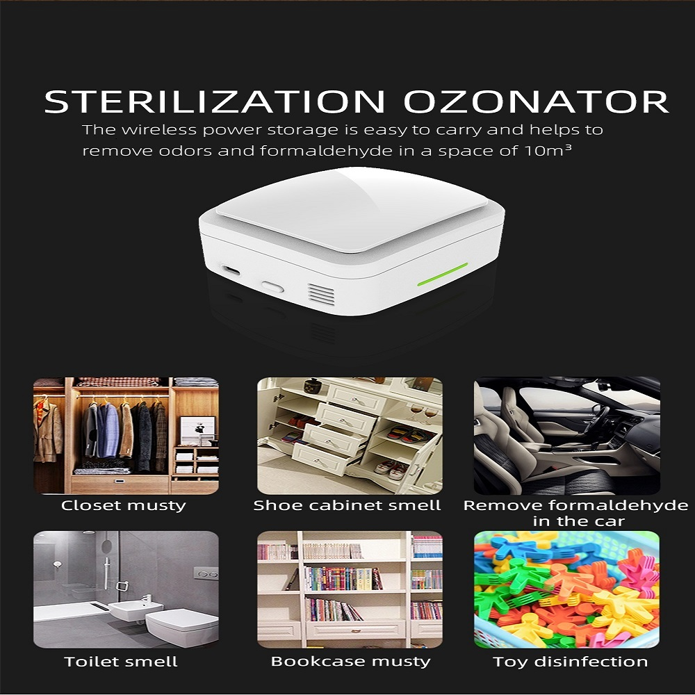 Portable Ozone Machine  Ozone Air Purifier Deodorization Sterilizer Mini Ozone GeneratorAir Cleaner For Travelling/ Room/Car/