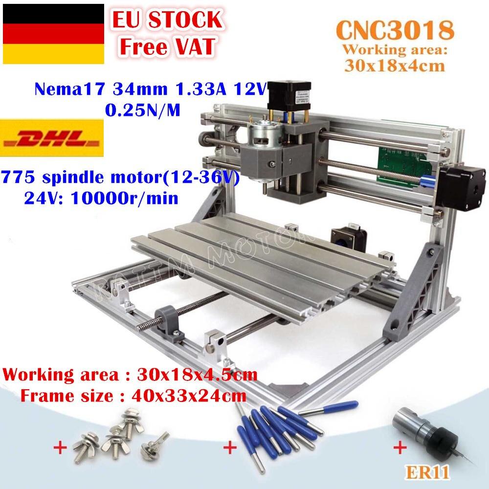 [Ue bezpłatny VAT] USB 3018 GRBL sterowania 3 osi obrabiarka cnc diy 30x18x4.5cm Pcb pcv laserowa maszyna grawerująca frezarka do drewna frezowanie