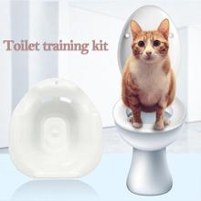 Tray Litter Toilet Training-Kit Pets Plastic Cat 1PC Potty Urinal Color-Tray-Supplies