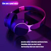 HIFI auriculares inalámbricos 3D cascos Bluetooth Estéreo plegable de juego de auriculares con micrófono TF Tarjeta de reducción de ruido auriculares