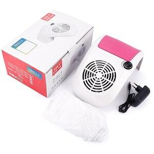 Image 5 - 60W Nail Stofafzuiging Sterke Verstelbare Snelheid Collector Voor Nail Dust Fan Stofzuiger Voor Manicure Tool Vacuüm Nail zuig
