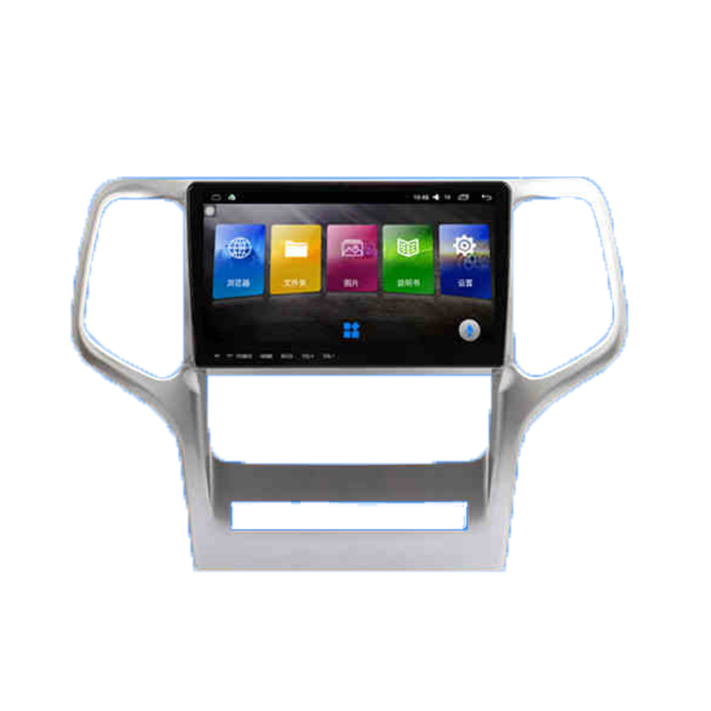 9.66 Android USB Car Radio AM/FM Multimedia Audio Video DVD Player BT GPS Navigation Voice For Jeep Grand Cherokee 2009-2012 image