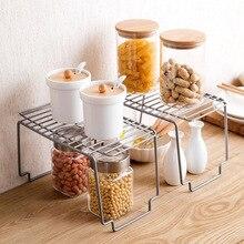Wrought Iron Storage Rack Kitchen Stackable Racks Spice Single Layer Kitchenware Organizer Bathroom Multifunctional