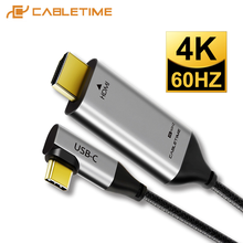 CABLETIME USB C HDMI Cable Type C to HDMI Thunderbolt 3 4K 60Hz for Huawei MacBook Samsung Galaxy S8+ Computer Laptop C030(China)