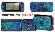 Película protectora decorativa para Cubierta de vinilo, pegatinas de cielo estrellado para consola Nintendo Switch NS, controlador y soporte
