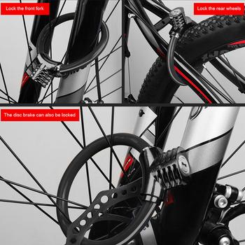 Blokada pierścienia rowerowego zabezpieczenie przed kradzieżą przewód rowerowy blokada bezpieczeństwo górska droga odblaskowe kolarstwo przenośne pyłoszczelne części rowerowe tanie i dobre opinie CN (pochodzenie) Miedzi Blokada kabla