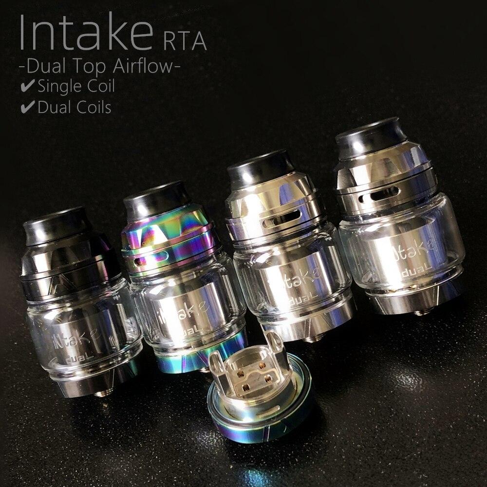 Intake Dual RTA 26mm 4.2ML/5.8ML Atomizer With  Vape RBA 810 Drip Tip Single/Dual Coil Rebuild MTL RTA Tank Vaper