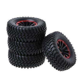 4 piezas llanta de 1,9 pulgadas y neumáticos de goma para 110 RC Rock orugas Axial SCX10 D90 Tamiya CC01