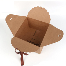 50pcs/lot Retro Square Kraft Paper Gift Box Cake Box Decorative Gifts Paper Foldable Box Candy Cookie Party Gifts Box Packaging 10pcs lot cake candy hand strap butterfly decorative gifts paper foldable box for apple candy cookie party gifts packing box
