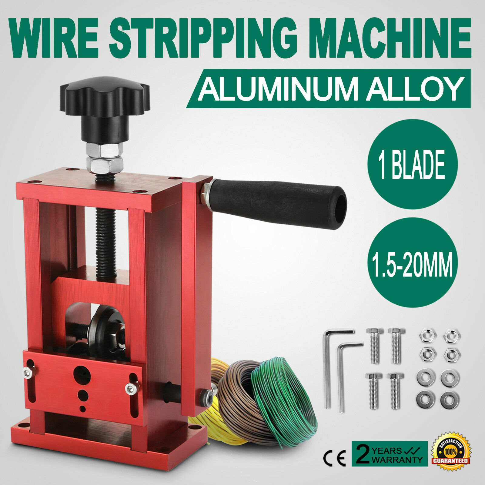 1.5mm-20mm Portable Wire Stripping Machine Hand Crank Cable Stripper Copper