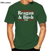 Reagan Bush 80 Ronald Reagan 1980 Kampagne T-Shirt männer T-shirt