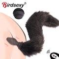 Fox Schwanz Anal Vibrator Für frauen Dildo Butt Plug Prostata Massager Dildo Erwachsene Spiel Buttplug Erotische Vibrator Sex Spielzeug Für frauen