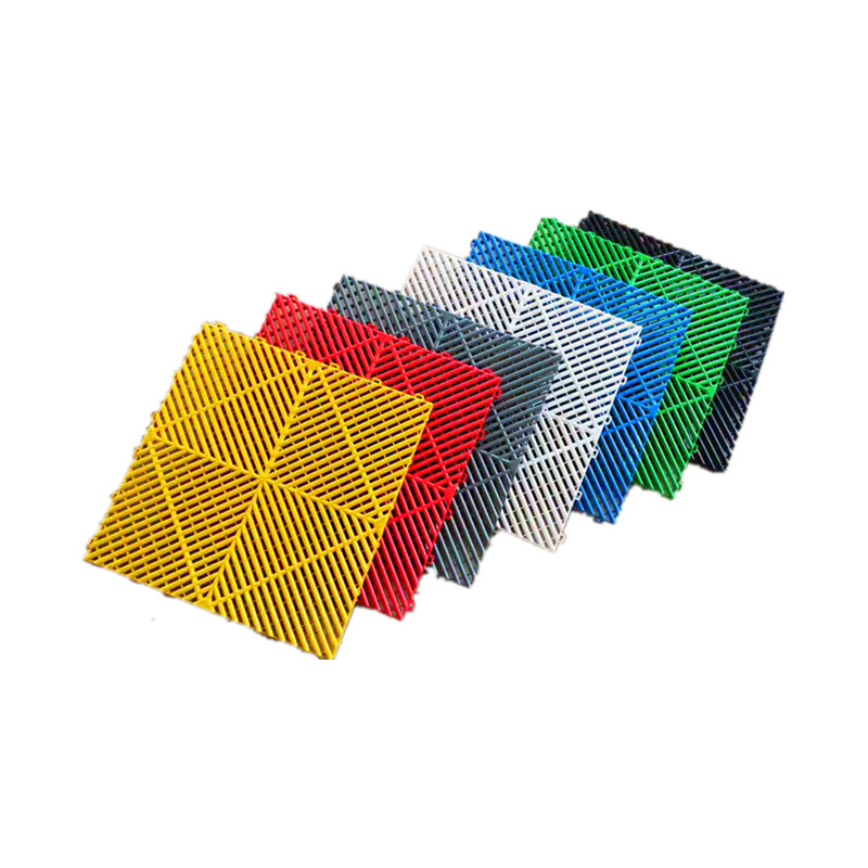 Car Beauty 4S Shop Plastic Splicing Grille Mats Car Wash Floor Square Drain Grid Mat For Car Washing Used