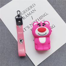 Cute Cartoon Lanyard Earphone Storage Bag Suitable for Most Mobile Phones 3d Headset Data Cable
