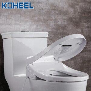 Image 5 - KOHEEL elektryczny inteligentny Bidet pokrywa ciepła siedzi Led światło zintegrowane inteligentny sedes