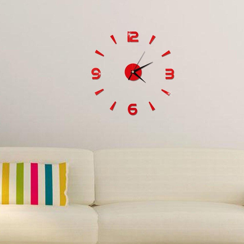 2019 New 3D Wall Clock Mirror Wall Stickers Fashion Living Room Quartz Watch DIY Home Decoration Clocks Sticker reloj de pared 19