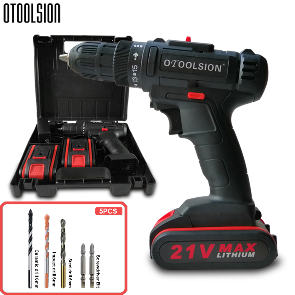 12V 21V 2Speed Cordless Drill Cordless Screwdrivers Power Tool Set Drill Electric Screwdriver Electric Drill With Free Bits Part